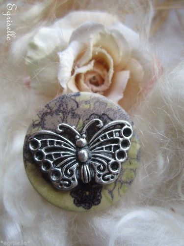 "♫ ""Astre et Papillon Floral"" ♫ BAGUE de CREATION Artisanale ♫"