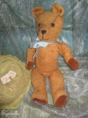 "♫ PELUCHE Vieil OURS ""BoB'BiL"", Teddy Bear Antique, COLLECTION d'OURS Anciens ♫"