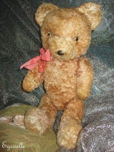 "♫ PELUCHE Vieil OURS ""CaL'LiN"", Teddy Bear Antique, COLLECTION d'OURS Anciens ♫"