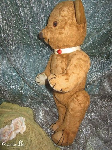 "♫ PELUCHE Vieil OURS ""Canaille"" Teddy Bear Antique, COLLECTION d'OURS Anciens ♫"