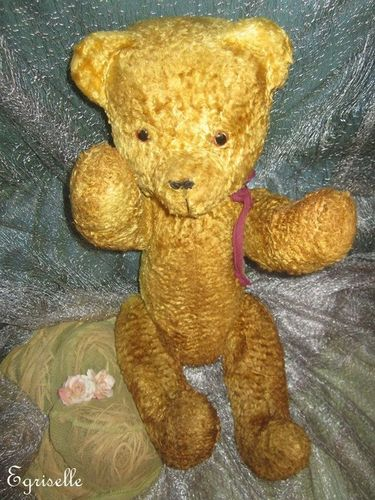 "♫ PELUCHE Vieil OURS ""ChocoMiel"" Teddy Bear Antique, COLLECTION d'OURS Anciens  ♫"