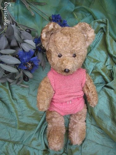 "♫ PELUCHE Vieil OURS ""CiBelle"", Teddy Bear Antique, COLLECTION d'OURS Anciens ♫"