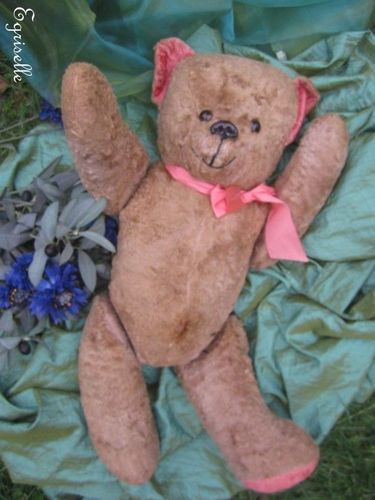 "♫ PELUCHE Vieil OURS ""Dudulle"", Teddy Bear Antique, COLLECTION d'OURS Anciens ♫"