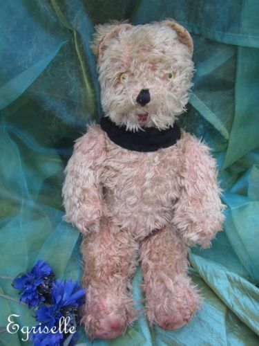 "♫ PELUCHE Vieil OURS ""éCiTell"", Teddy Bear Antique, COLLECTION d'OURS Anciens ♫"