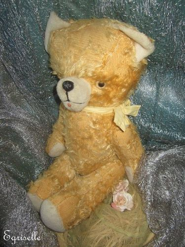"♫ PELUCHE Vieil OURS ""Kalynne"", Teddy Bear Antique, COLLECTION d'OURS Anciens ♫"