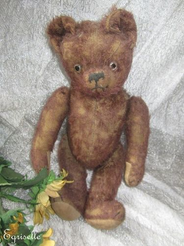 "♫ PELUCHE Vieil OURS ""LieDeVin"" Teddy Bear Antique, COLLECTION d'OURS Anciens ♫"
