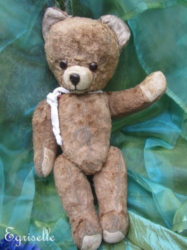 "♫ PELUCHE Vieil OURS ""Maboule"", Teddy Bear Antique, COLLECTION d'OURS Anciens ♫"
