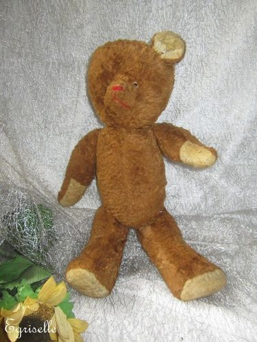 "♫ PELUCHE Vieil OURS ""MielToP"", Teddy Bear Antique, COLLECTION d'OURS Anciens ♫"