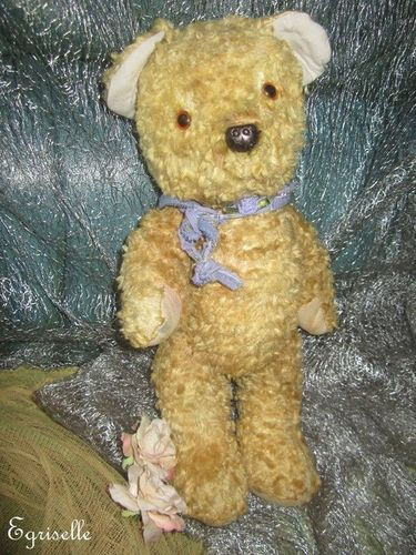 "♫ PELUCHE Vieil OURS ""Miel'ToP"" Teddy Bear Antique, COLLECTION d'OURS Anciens ♫"