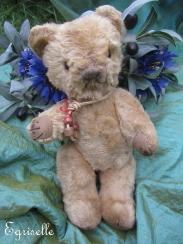 "♫ PELUCHE Vieil OURS ""MiniBal"", Teddy Bear Antique, COLLECTION d'OURS Anciens ♫"