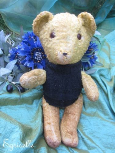 "♫ PELUCHE Vieil OURS ""MiniBil"", Teddy Bear Antique, COLLECTION d'OURS Anciens ♫"