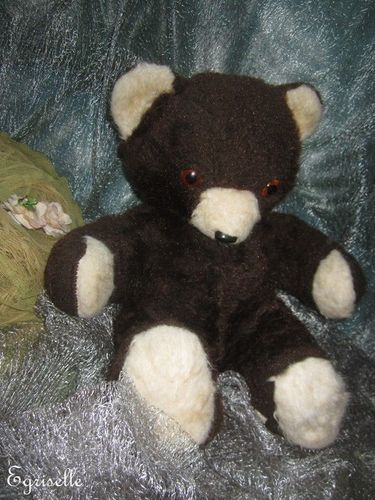 "♫ PELUCHE Vieil OURS ""OursBrun"" Teddy Bear Antique, COLLECTION d'OURS Anciens ♫"
