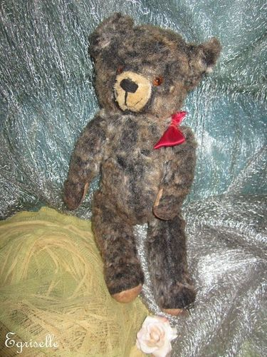 "♫ PELUCHE Vieil OURS ""Panache"", Teddy Bear Antique, COLLECTION d'OURS Anciens ♫"