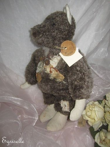 "♫ COLLECTION OURS Artiste CREATION ""Cas'Pierre"" Pièce Uniqu Teddy Bear PELUCHE ♫"