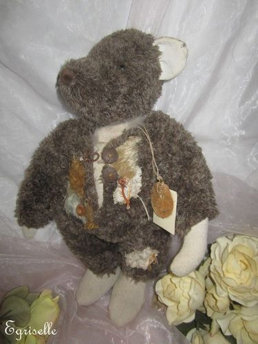 "♫ COLLECTION OURS Artiste CREATION ""CossFierre"" Pièce Uniqu Teddy Bear PELUCHE ♫"